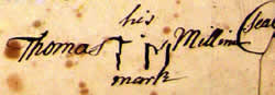 Thomas Milam's Mark: TM